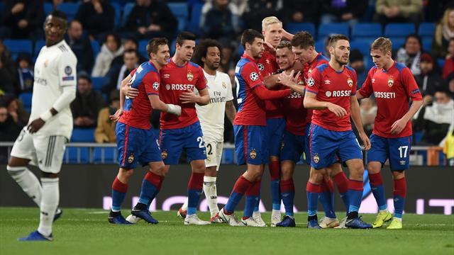 Champions League, Real Madrid-CSKA de Moscú: Charlotada (0-3)