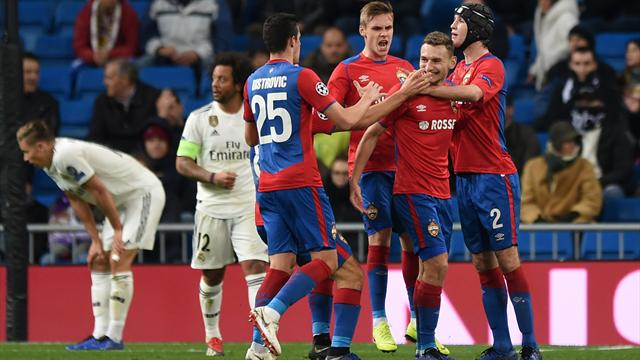 CSKA smash Real Madrid 3-0 to complete famous double… but still finish bottom of Group G