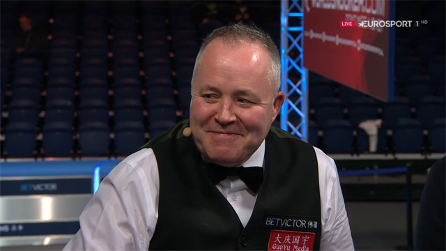Higgins guides Eurosport through the nerve-wracking finish to his 147