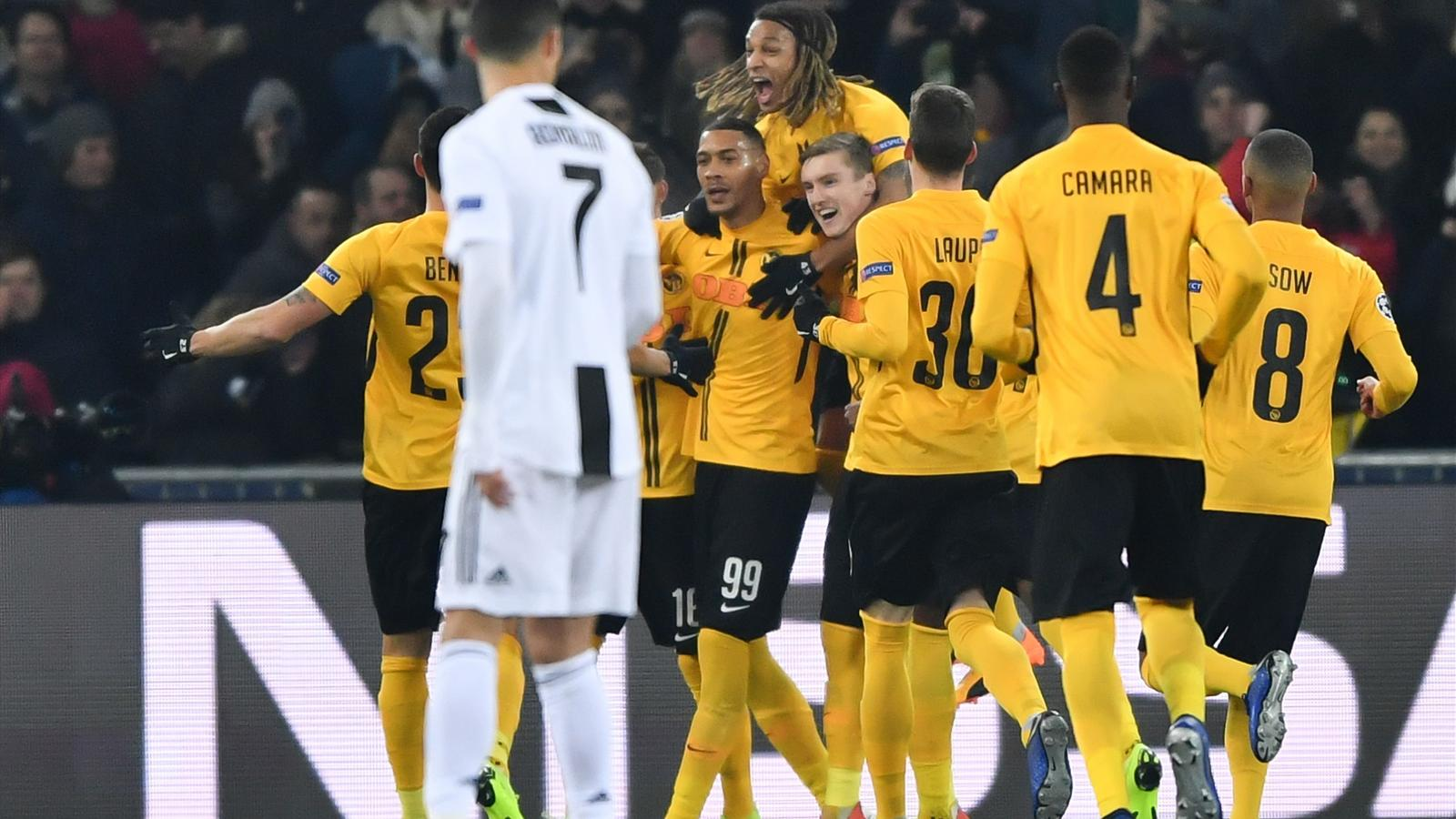 huge selection of 37f77 01457 Juventus finish top despite surprise defeat to Young Boys ...