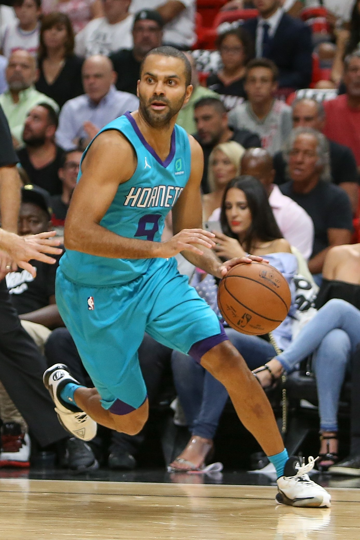 Tony Parker (Charlotte) en NBA le 20 octobre 2018