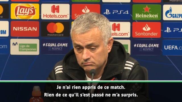 "Groupe H - Mourinho : ""Je n'ai rien appris de ce match"""