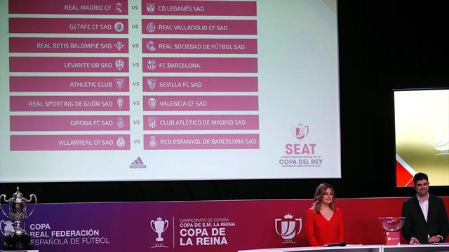 Real Madrid-Leganés, Levante-Barcelona y Girona-Atlético, en octavos de Copa
