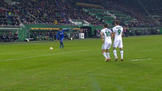 Höjdpunkter: Respass för Rangers - Rapid Wien vidare