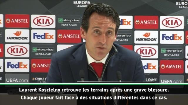 "Arsenal - Emery : ""Koscielny doit maintenant gagner en confiance"""