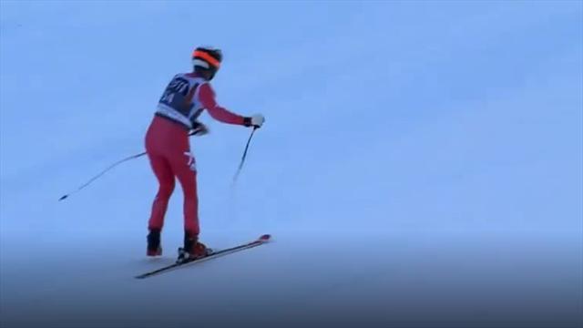 Wer braucht zwei Ski? Däne mit akrobatischer Meisterleistung beim Super-G
