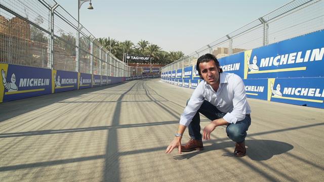 La stagione di Formula E si apre in Arabia Saudita: un giro dell'E-Prix di Ad Diriyah in 3D