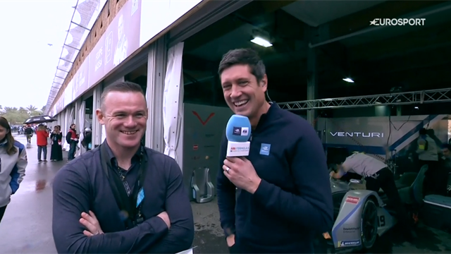 Rooney discusses MLS life at Formula E race