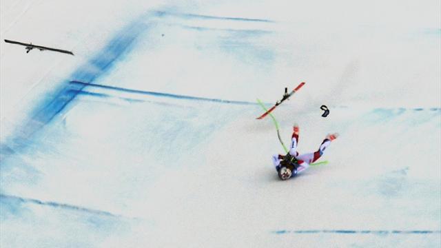 Gisin in horror crash as Kilde wins downhill at Val Gardena