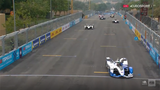 Should the car be pointing that way? Formula E season gets off to strange start