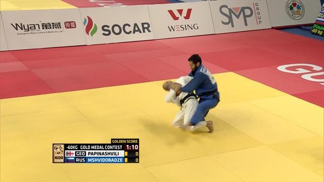 Mshvidobadze bags -60kg title in Guangzhou