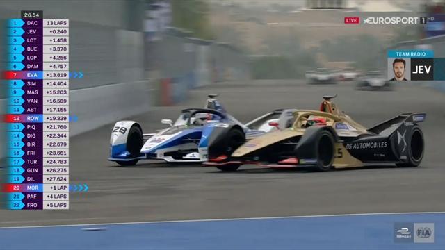 Fórmula E, ePrix Riad: ¡Así adelanta un campeón! Espectacular maniobra de Vergne