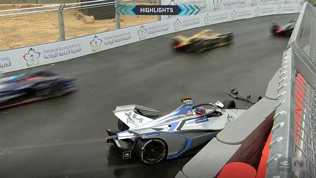 Formula E, ePrix Riad: Da Costa se llevó una pole muy peligrosa pasada por agua