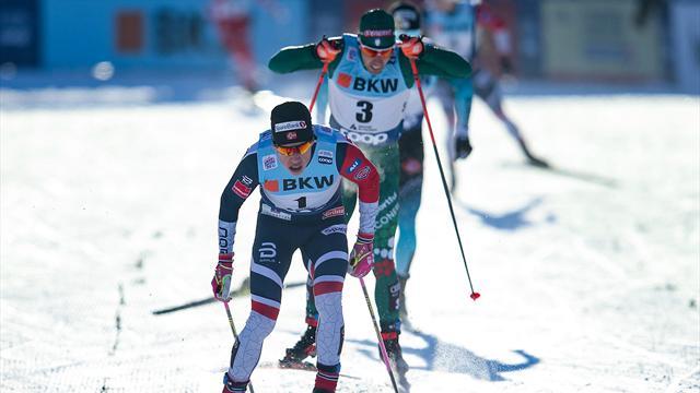 Pellegrino cade all'ultimo giro della team sprint, fine settimana nerissimo a Dresda