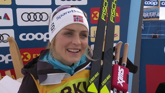 Therese Johaug: I'm top of the podium and it's Christmas!