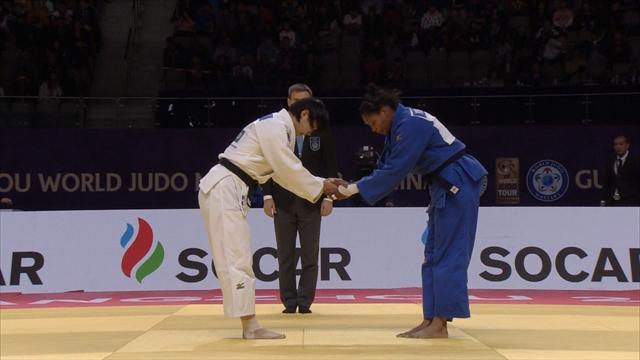 Niizoe dominates Alvear in one-sided women's -70kg final