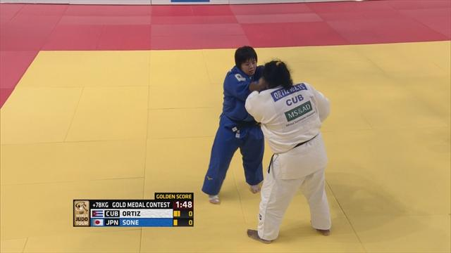 Sone outlasts Ortiz in Golden Score thriller in +78kg women's final