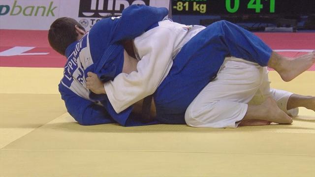 Impressive Sasaki beats Lappinagov in men's -81kg gold medal contest