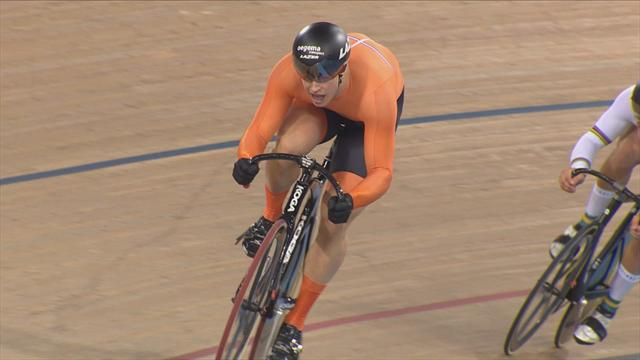 Lavreysen storms to convincing sprint victory at London Track Cycling World Cup