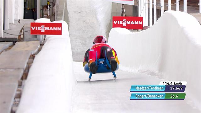Eggert and Benecken show their class in Lake Placid double luge
