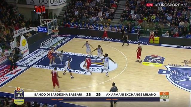 Highlights: Banco di Sardegna Sassari-AX Armani Exchange Milano 106-107 dts