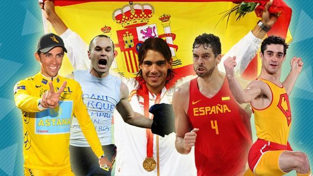 Nadal, Iniesta y Gasol podio del Mejor Deportista Masculino Español del Siglo XXI