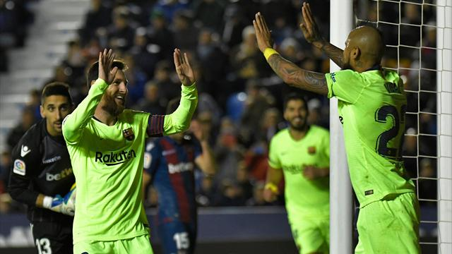Messi scores hat-trick as Barcelona drub Levante 5-0