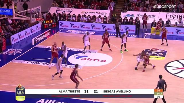 Highlights: Alma Trieste-Sidigas Avellino 110-64