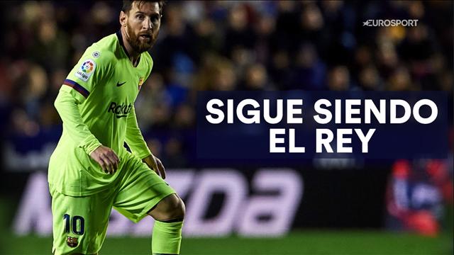 Messi sigue siendo el rey, y así lo demostró en el Ciutat de Valencia
