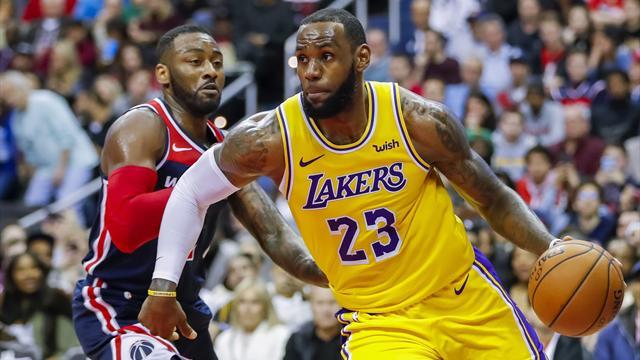 LeBron James comanda paliza de Lakers sobre Hornets