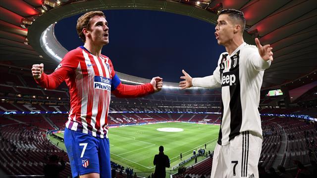 Atleti-Juve: La vuelta del coco Cristiano a Madrid, un mago, un guerrero y otros morbos del bombazo