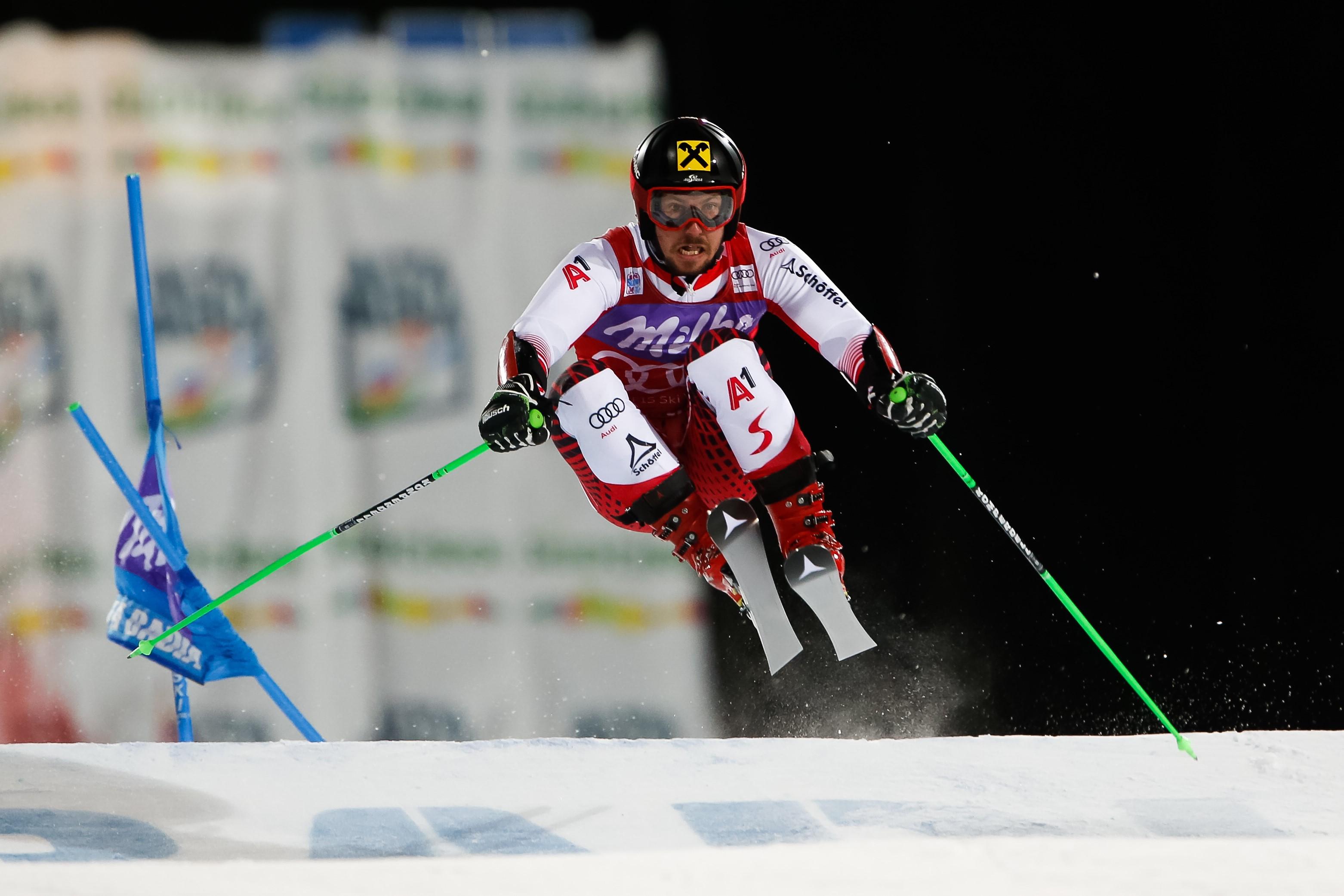 Marcel Hirscher vainqueur du géant parallèle d'Alta Badia le 17 décembre 2018