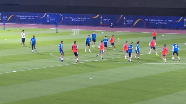 CdM Clubs - Le Real Madrid à l'entraînement avant sa demi-finale