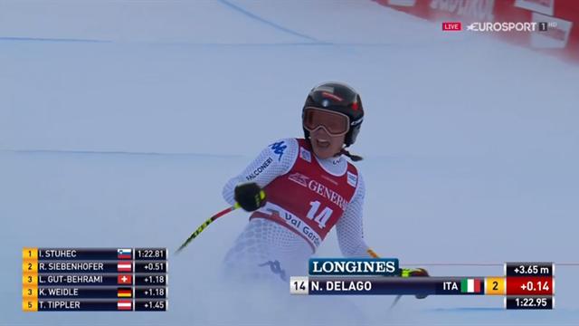 Nicol Delago per la prima volta sul podio: seconda in discesa sulla pista di casa