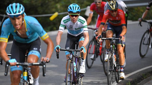 """Debutta la maglia bianca per il miglior giovane alla Vuelta a España, addio alla """"Combinada"""""""