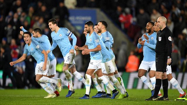 Höjdpunkter: City klart för semifinal efter straffseger mot Leicester