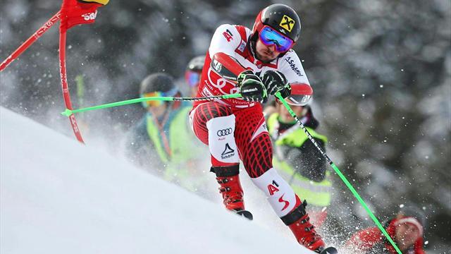 Hirscher stecca a Saalbach: è solo 6°, giù dal podio dopo 18 giganti consecutivi