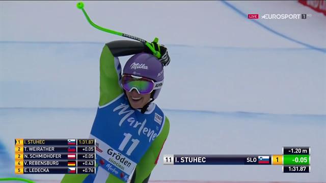 Ilka Stuhec, che doppietta in Val Gardena: la slovena è imbattibile anche in SuperG