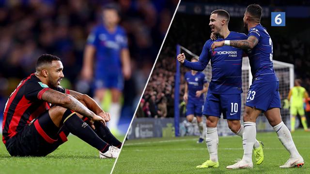 Highlights: Sent mål af Hazard mod Bournemouth sender Chelsea videre i Carabao Cup'en