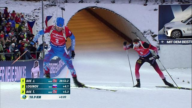 Boe clinches back-to-back biathlon World Cup golds