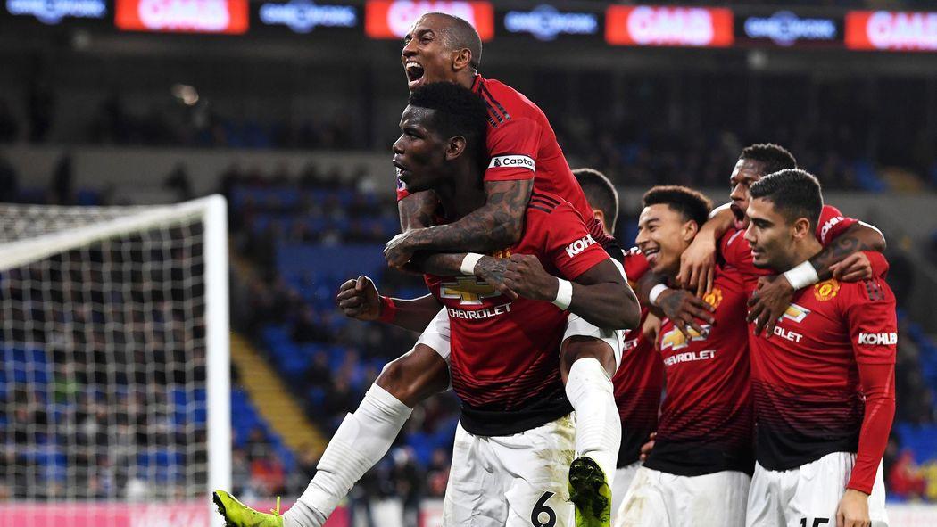 Kết quả hình ảnh cho cardiff city 1-5 manchester united