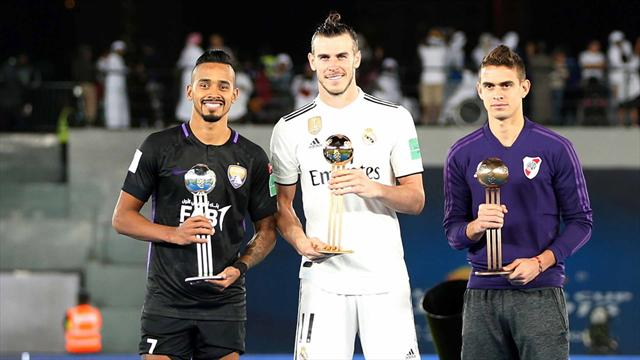 Bale, Balón de Oro del Mundial de Clubes; Marcos Llorente, mejor jugador de la final