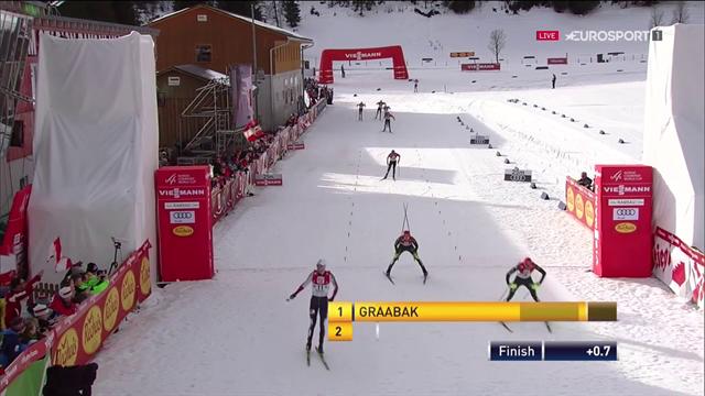 Geiger cade e fa da tappo in volata, vittoria di Graabak