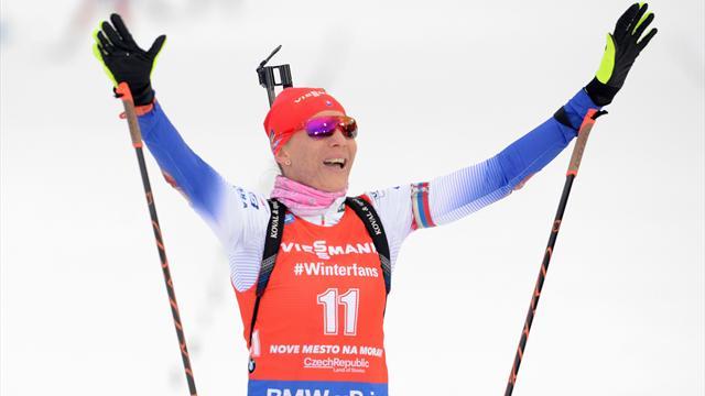 Kuzmina back on top with Nove Mesto triumph