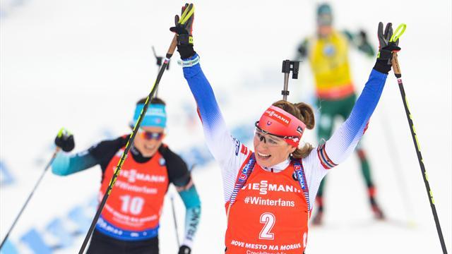 Kuzmina était intouchable sur les skis mais Chevalier a croqué Wierer : les temps forts