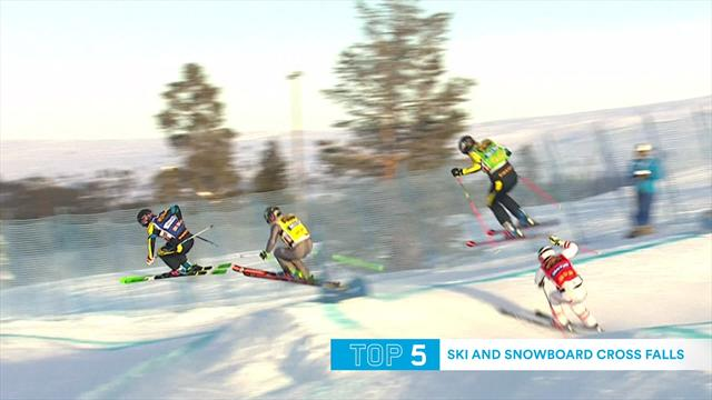 Top 10: Ski and snowboard cross falls