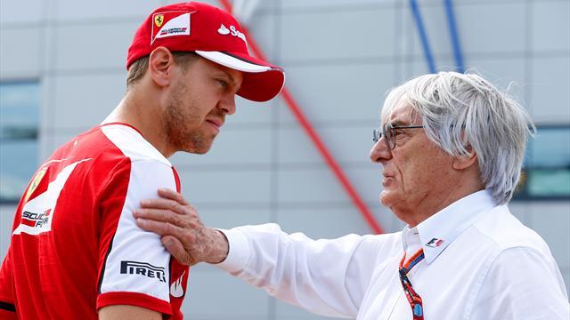 """Ecclestone difende Vettel: """"La Ferrari non lo ha supportato come fece con Schumacher"""""""