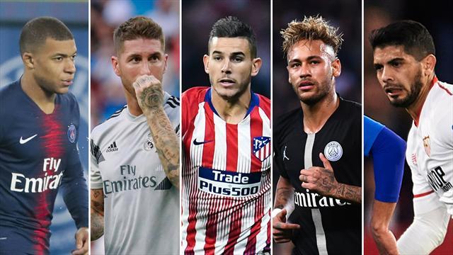 Mbappé, Ramos, Lucas, Neymar y Banega, los nombres del día