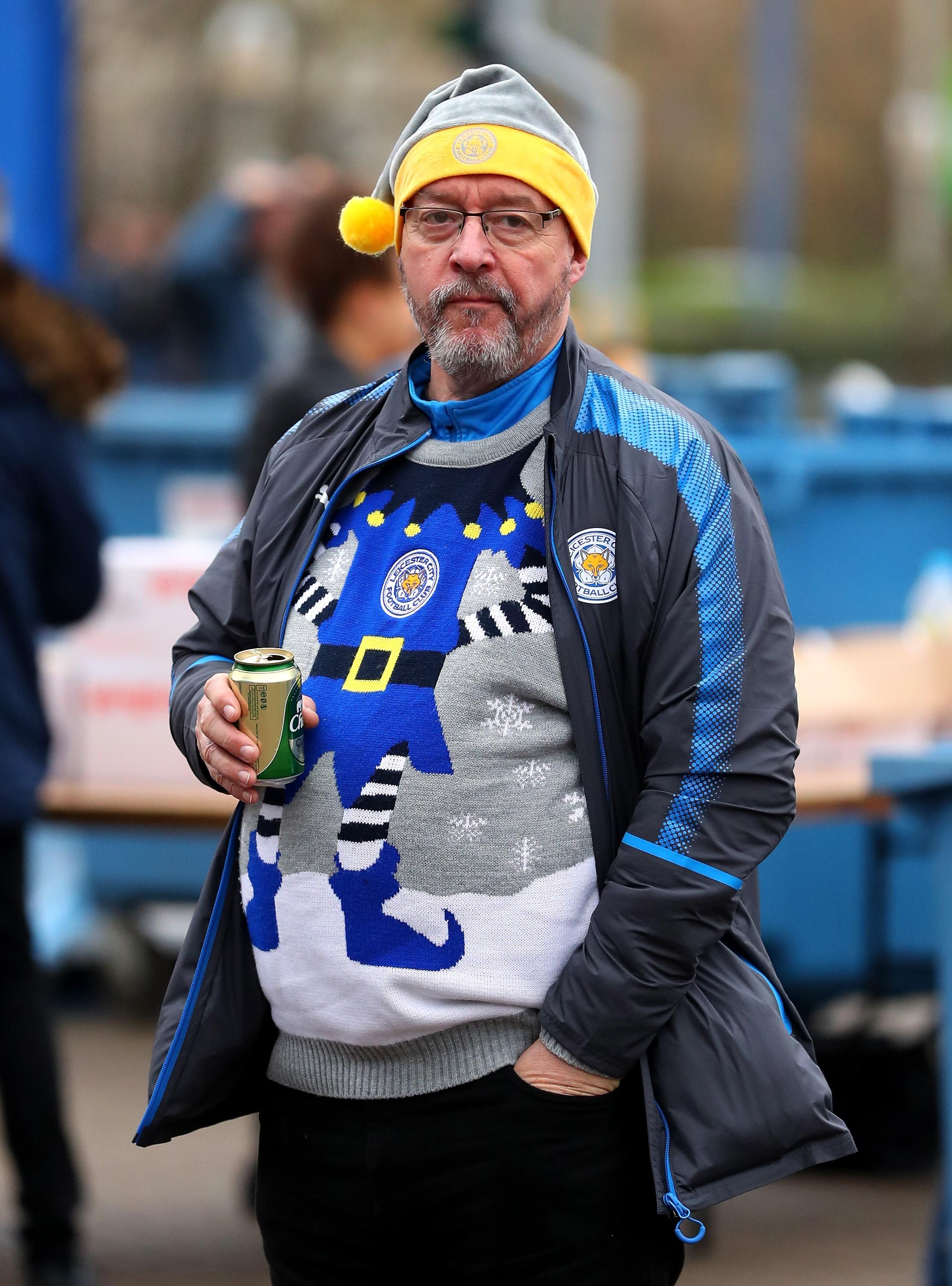 Un supporter de Leicester