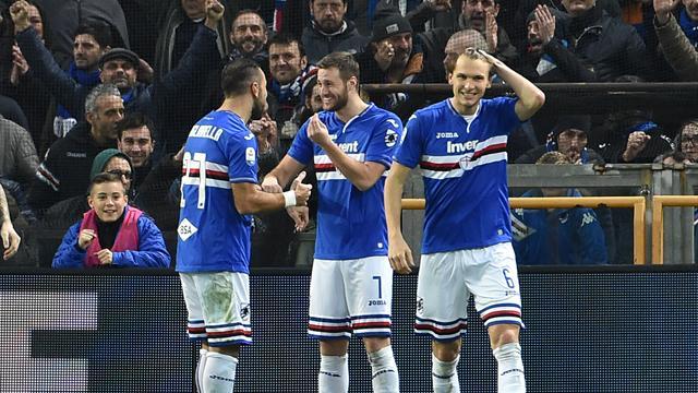 Quagliarella da favola, Di Carlo conosce la sconfitta: Sampdoria-Chievo 2-0